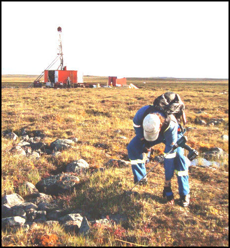 direct sampling helium of hummocks at Nunavut