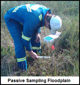 passive sampling helium in floodplains