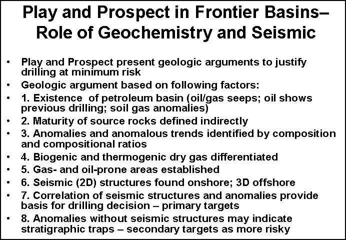 role of geochemistry and seismic in reducing risk